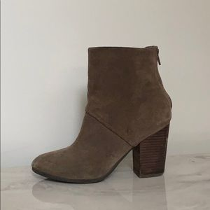 Suede Taupe Brown Booties